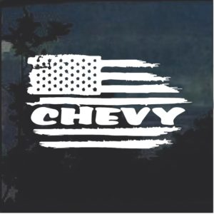 Chevy Weathered Flag Decal Sticker A3