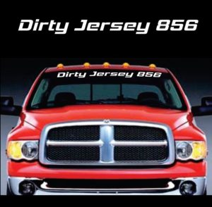 Dirty Jersey 856 Club Windshield Banner