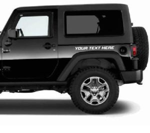 Custom Side Panel Text Jeep Decal Stickers