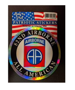 US Army 82nd Airborne Round Full Color Window Decal Sticker Licensed