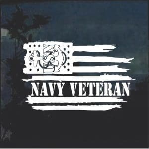 Navy veteran weathered flag
