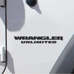 "Jeep Wrangler Unlimited Fender Set of 2 - 7 "" X 0.95"" Decals"
