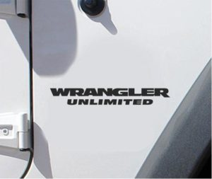 "Jeep Wrangler Unlimited Fender Set of 2 - 7 "" X 0.95"" Decals"