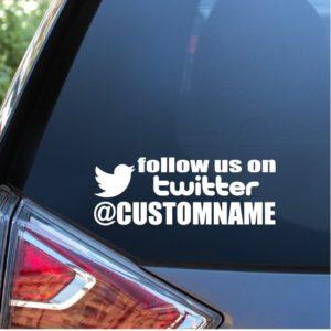 Twitter Name Window Decal Sticker