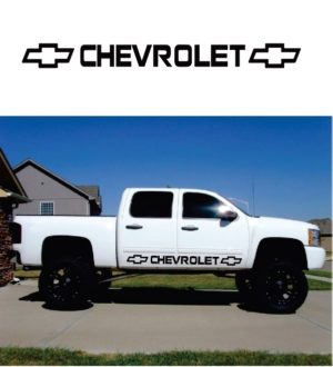 Chevrolet Chevy Rocker Panel Decal Sticker set of 2