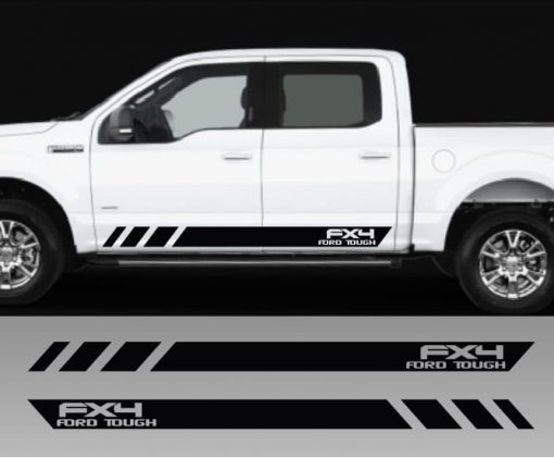 Ford FX4 Ford Tough Rocker Panel Decal Set of 2