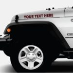 Jeep custom text 2 color Outlined Hood Decals