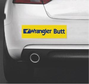 Wrangler Butt Bumper Sticker 12 x 3.5