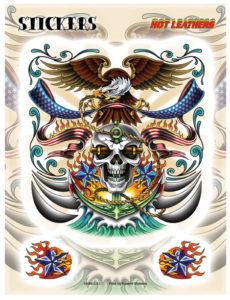 American Eagle Skull Anchor Navy Decal Sticker