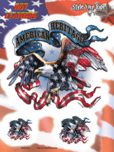 Eagle American Flag American Heritage Decal Sticker