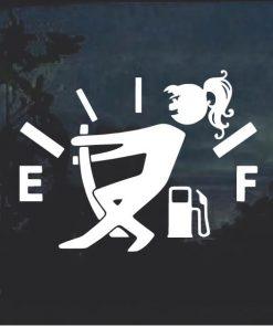 Funny Gas Gauge Female Decal Sticker
