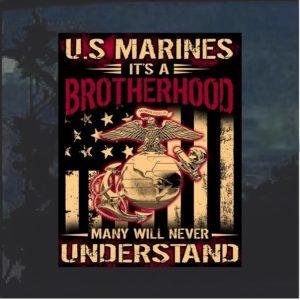 US Marines Brotherhood Decal Sticker