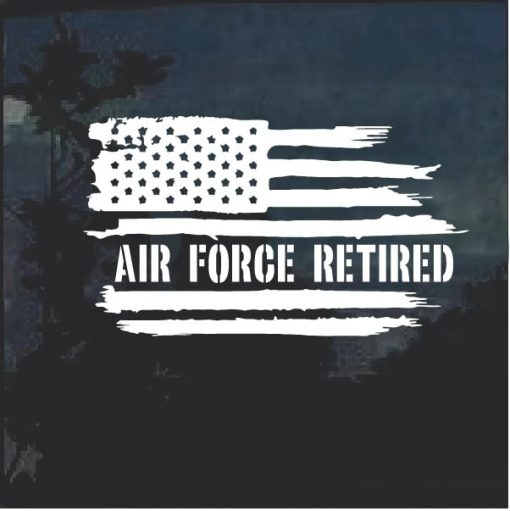 USAF Air Force Retired Weathered Flag Decal Sticker