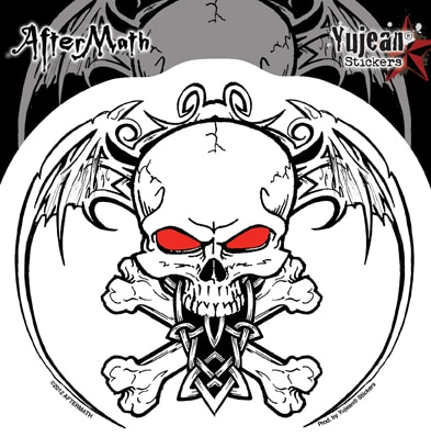 Winged Skull and Cross Bones Aftermath Decal Sticker