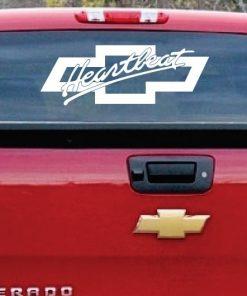 Chevrolet Heartbeat america Truck Window Decal Sticker 1