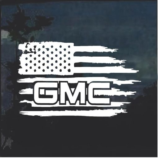 GMC Weathered Flag A2 Window Decal Sticker