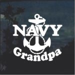 Navy Grandpa Anchor Military Window Decal Stickers