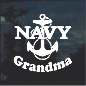 Navy Grandma Anchor Military Window Decal Stickers