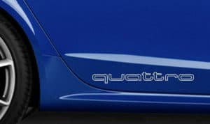 Audi Quattro Outlined Side panel decal set of 2