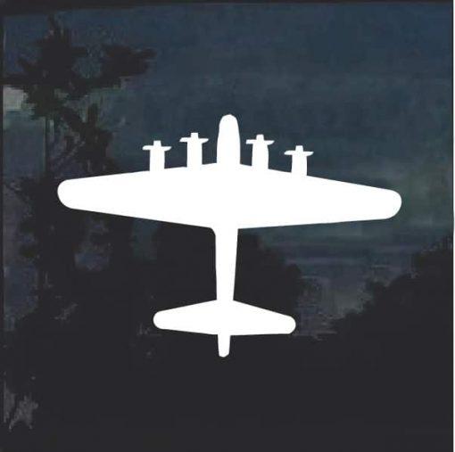 B-25 silhouette window decal sticker