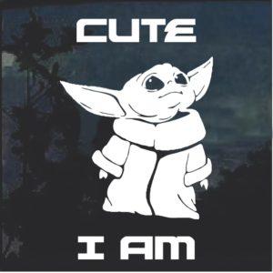 Baby Yoda Window Decal Sticker A1
