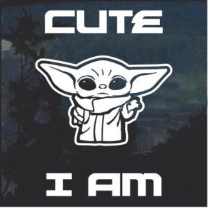 Baby Yoda Window Decal Sticker A2