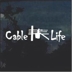 Cable Life Cable Technician Decal Sticker