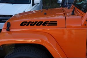 Jeep Hood Decals GI Joe Hood Set of 2