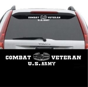 Combat action badge rear window decal.