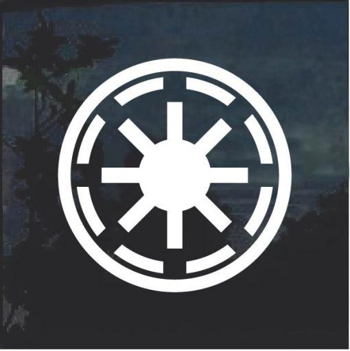Galactic Republic Badge Decal Sticker
