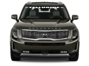 Kia Telluride Windshield Banner Decal Sticker With Logo