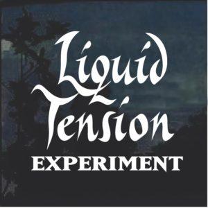 Liquid tension experiment window decal sticker
