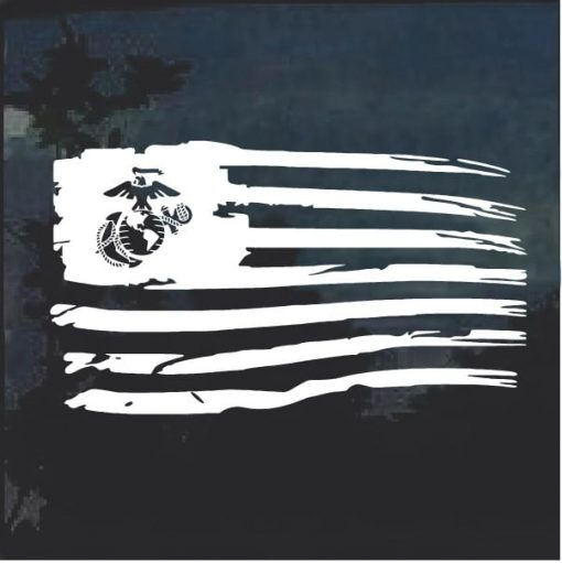 Marines EGA Weathered Flag Decal Stickers