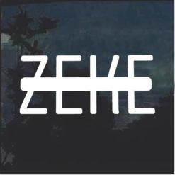 Zeke window decal sticker