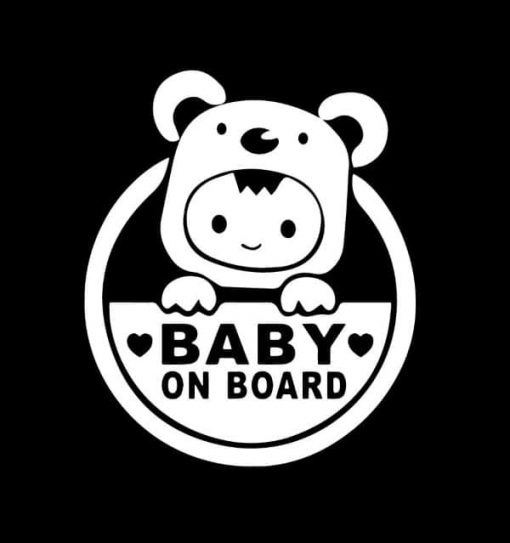 Baby on Board Bear Toddler Decal Sticker