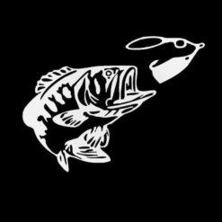 Bass Fishing Fish Lure Decal Sticker