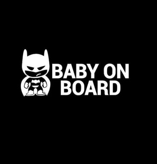 Batman Baby on Board Decal Sticker