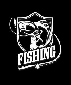 Fishing Bass Fisherman shield Car Decal Sticker