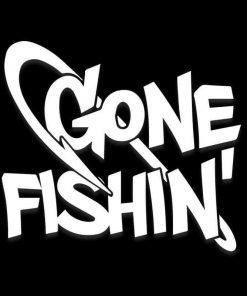 Gone Fishing Car Window Decal