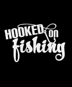 Hooked On Fishing Decal Sticker