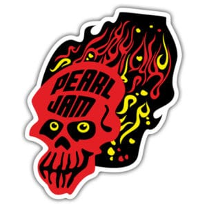 Pearl Jam Skull Full Color window Decal Sticker