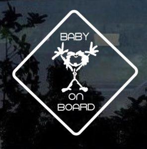 Pearl Jam Stickman Baby On Board Window Decal Sticker