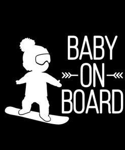 Snowboarding Baby on Board Decal Sticker a2