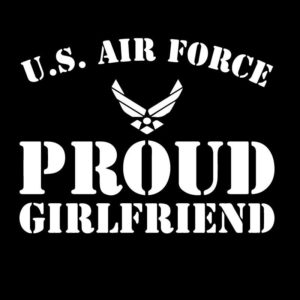 US Air Force Proud Girlfriend Decal Sticker