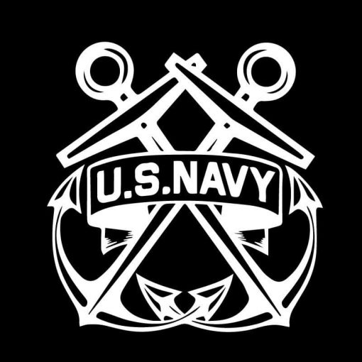 US Navy Crossed Anchors Window Decal Sticker