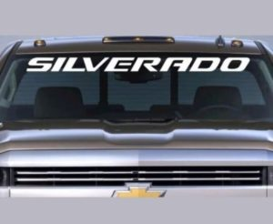 Chevy Silverado stock style windshield banner decal sticker