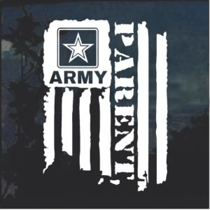 Army parent Weathered flag window decal sticker