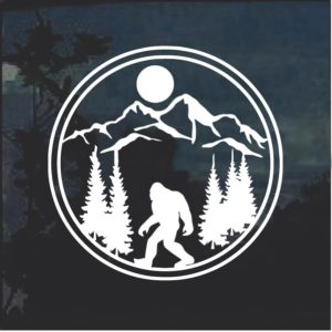 Big Foot Round Window Decal Sticker