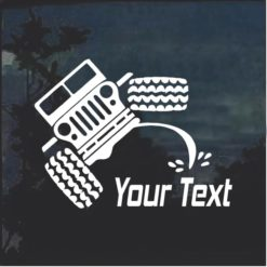 Jeep Pee on your Custom Text Decal Sticker