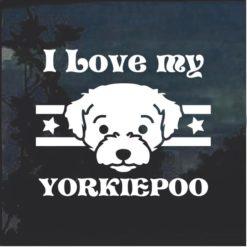 Love my YorkiePoo dog window decal sticker